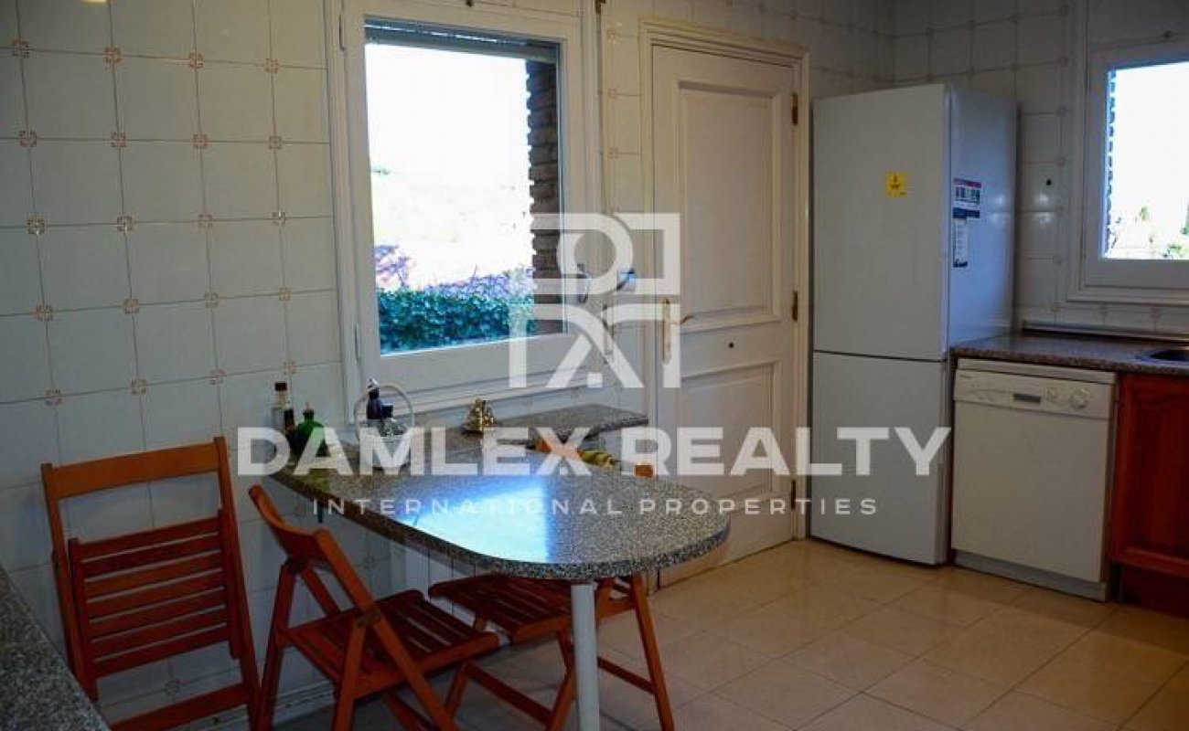 The villa in Costa Maresme, 8-minute drive from the beach