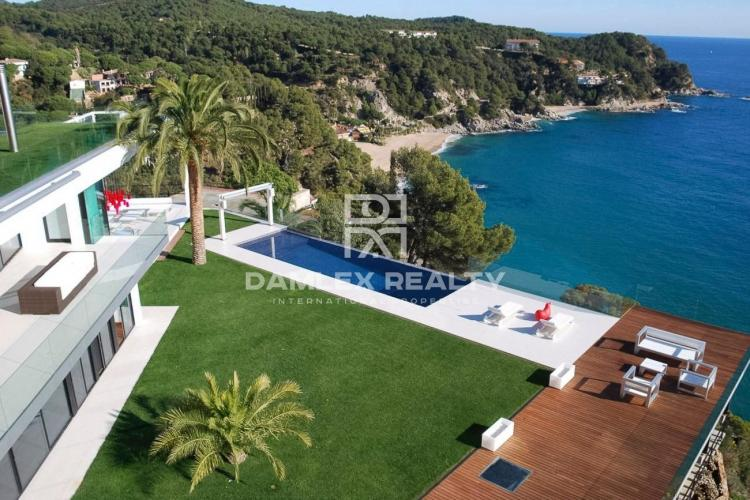 A modern villa with sea views