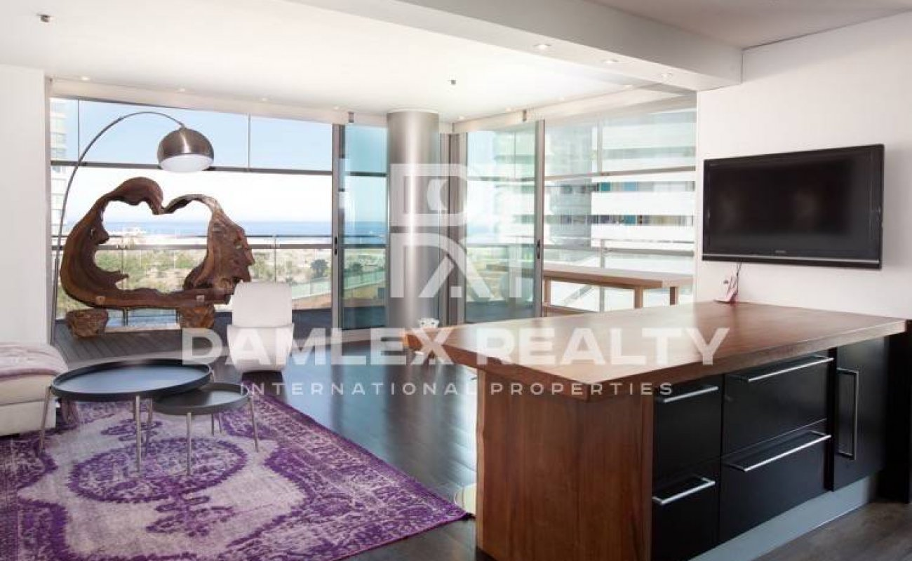 Luxury apartment in Barcelona with sea view.