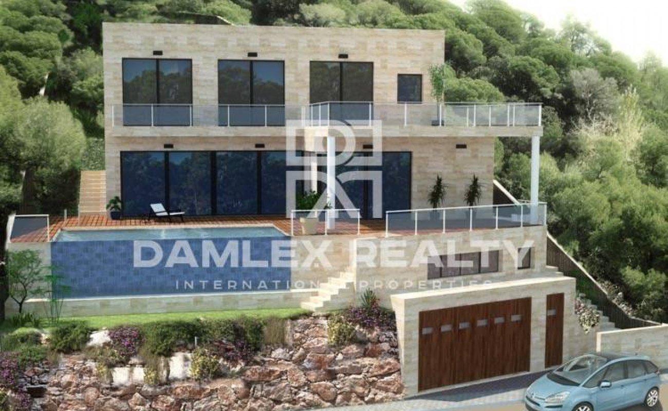 Project of a modern villa with sea views in Lloret de Mar