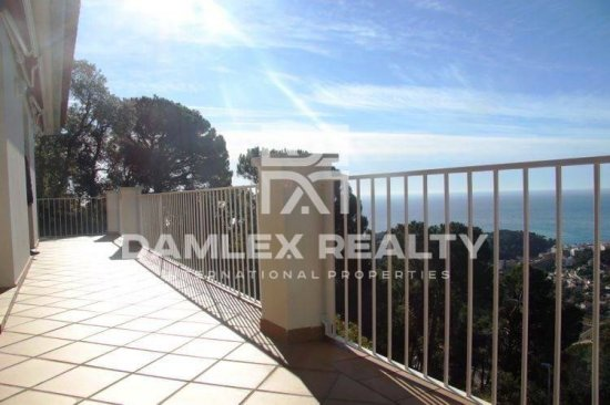 The house in one of the residential areas of Lloret de Mar. Costa Brava