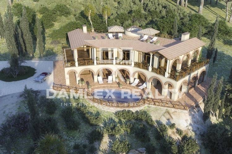 Villa in construction with stunning views of the Costa Brava