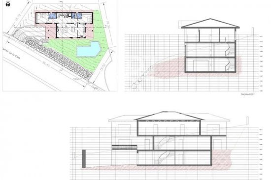 Villa in construction with views of the sea in Blanes