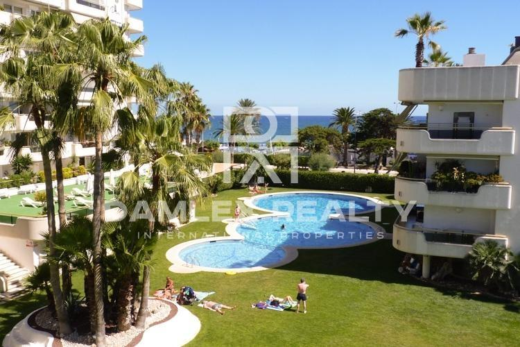 Apartments on the seafront in Sitges.