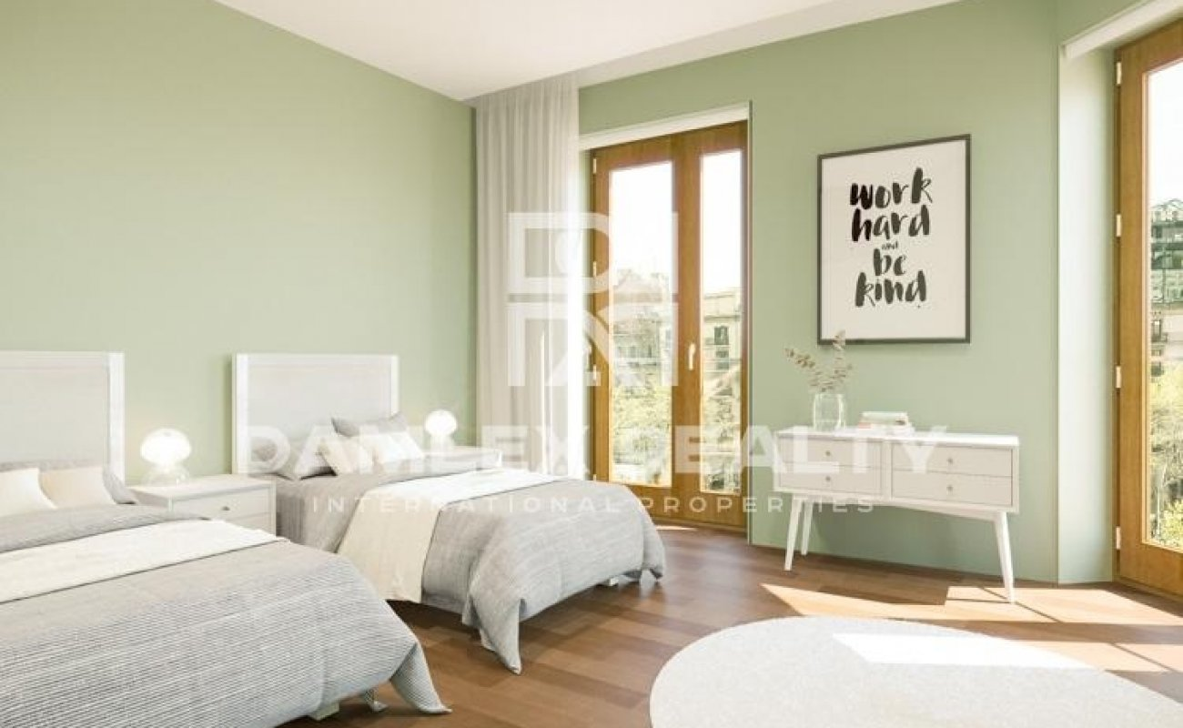 Luxurious apartment on Paseo de Gracia in Barcelona.