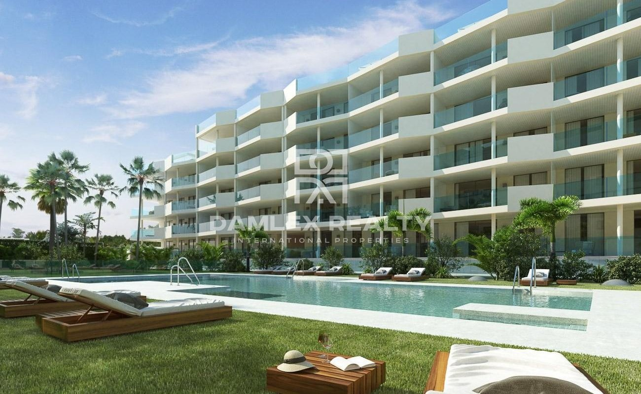 Apartments near the beach in a new residential complex