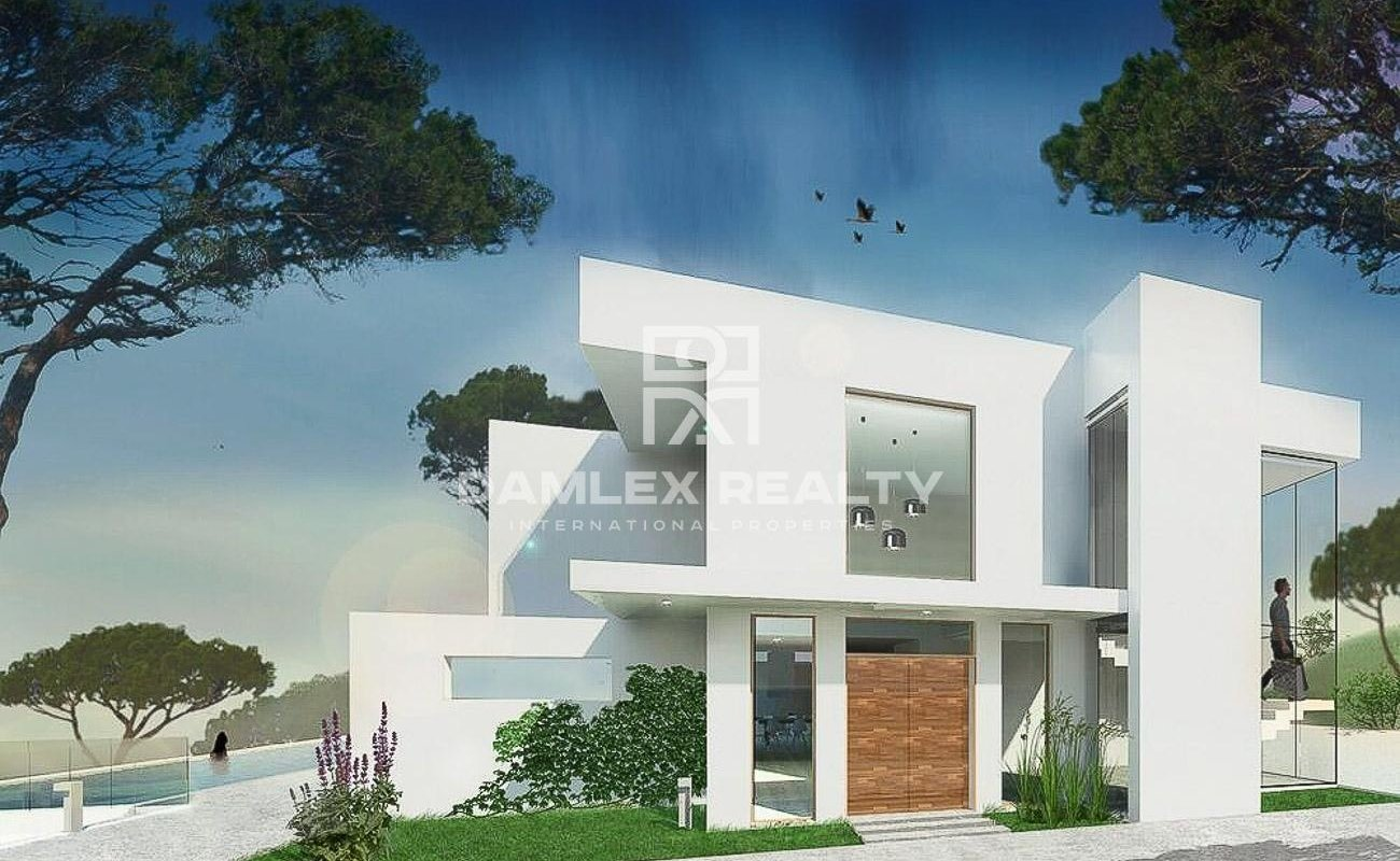 Modern villa with an area of 891 m2 with sea views in one of the urbanizations of Marbella.