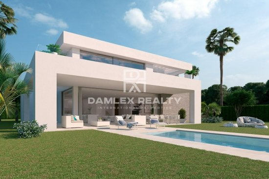 Modern villas on the Costa del Sol