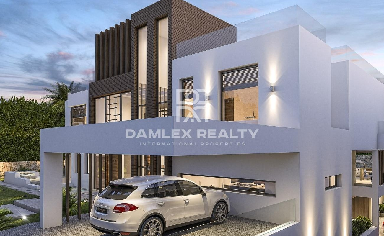Project of a modern villa with a beautiful design. The Golden Mile Marbella.