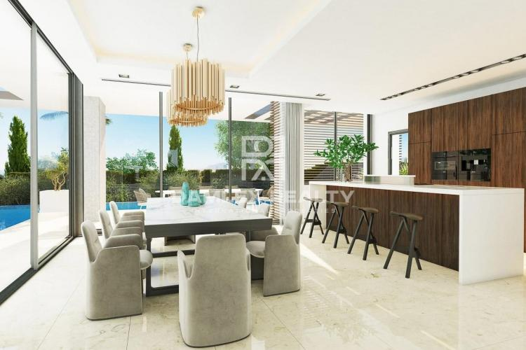 Modern villa under construction in the area of the Golden Mile, Marbella