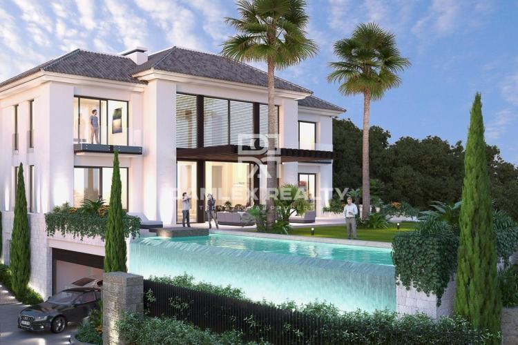 Project of a luxury villa with sea views. Costa del Sol.