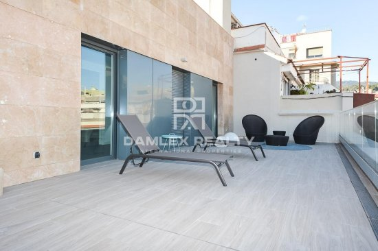 Penthouse in a new building in Barcelona