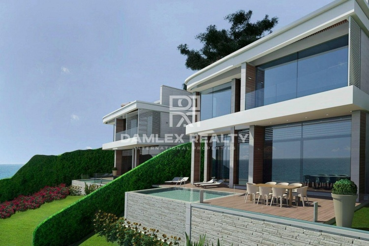 Modern villa with a stunning sea views