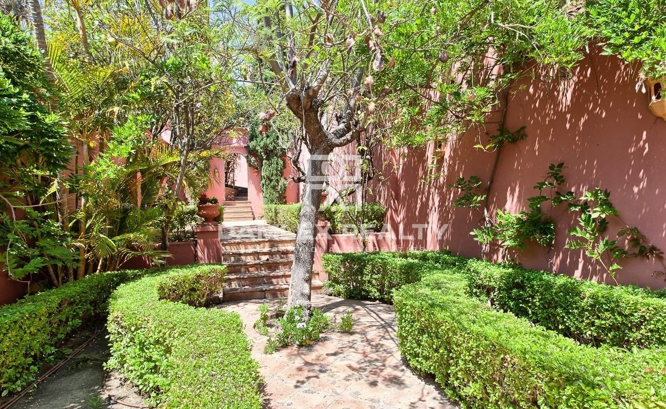 Villa surrounded by a beautiful garden