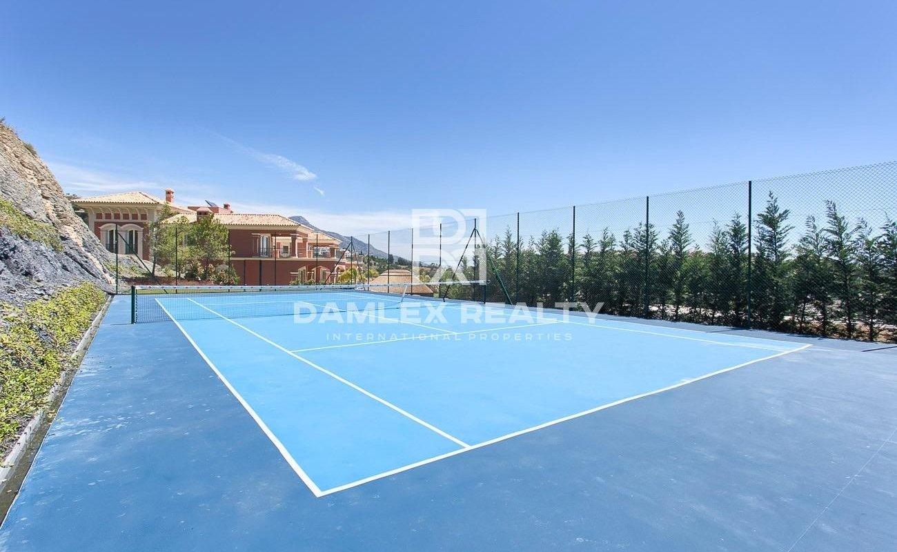 Large villa with panoramic sea views.