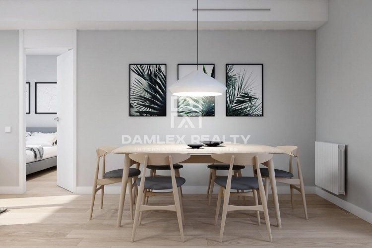 Apartment for sale on the third floor in a new building in Poblenou. Barcelona