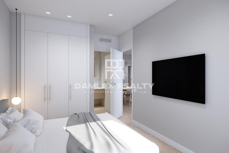 Apartment in new building with 2 bedrooms in Poblenou