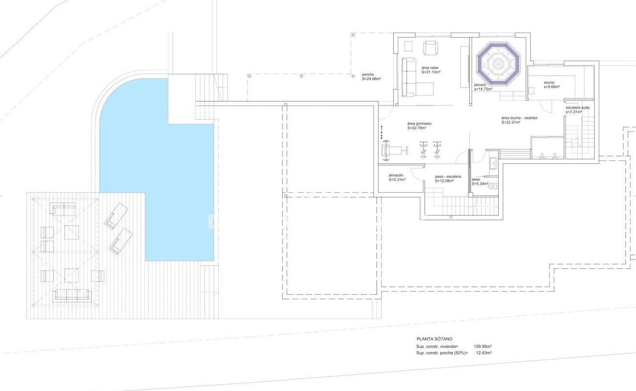 Tres parcelas de terreno para la construcción de una o tres villas