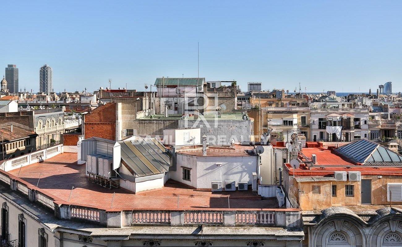 Elegant penthouse in Barcelona.