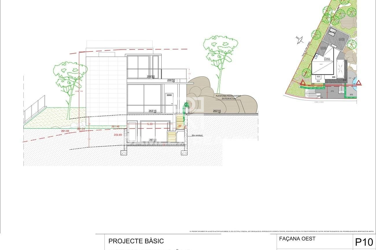 Plot with seaviews with building permit