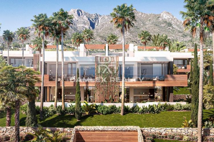 Brand-new complex of 22 contemporary semi-detached villas in Sierra Blanca, Marbella