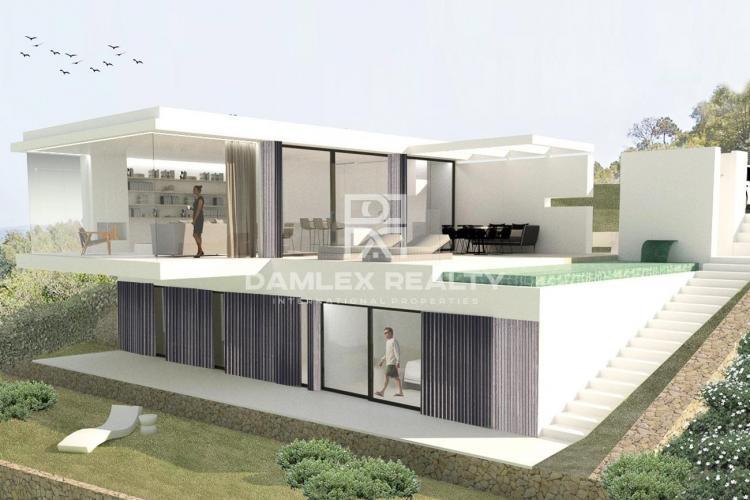 Modern design villa in Begur