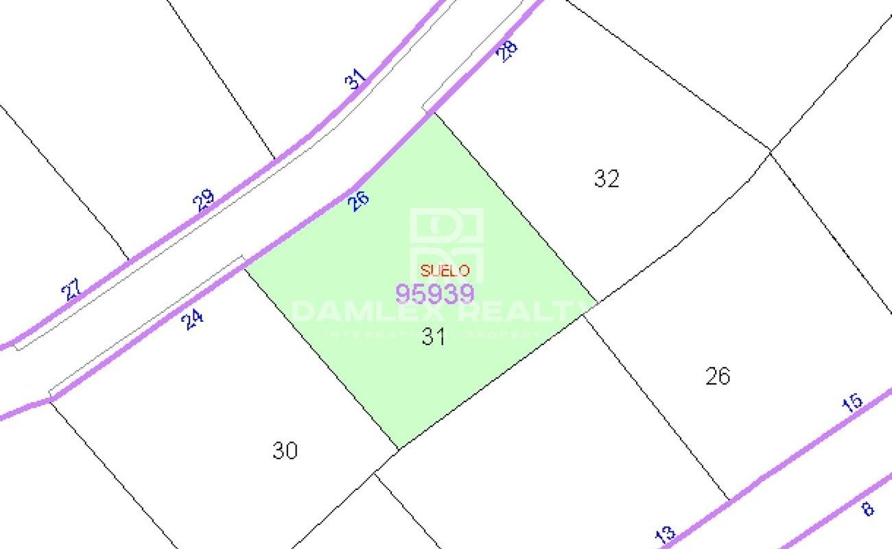 Plot of land to build an individual house