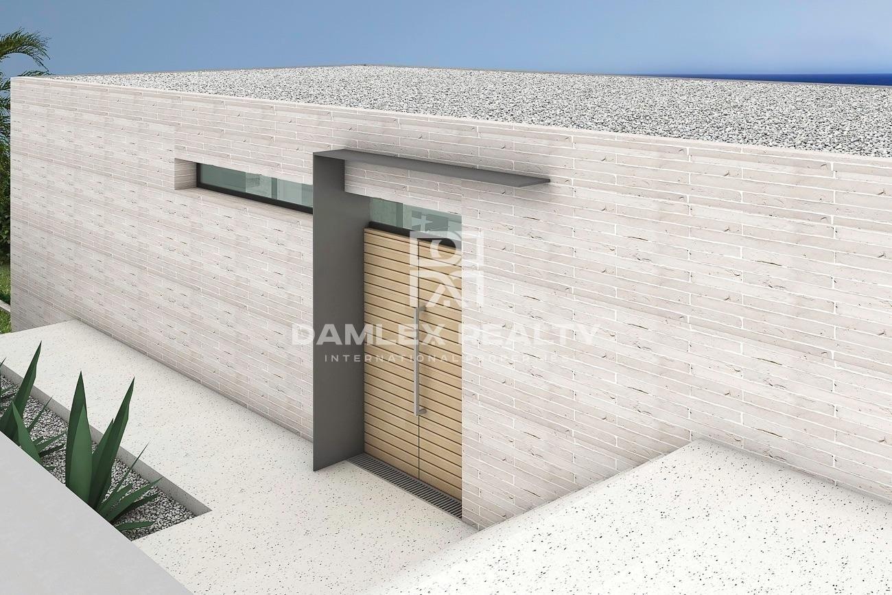 Modern villa under construction on the Costa Brava