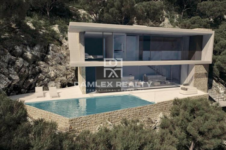 New construction detached house on a 990m2 plot with spectacular views