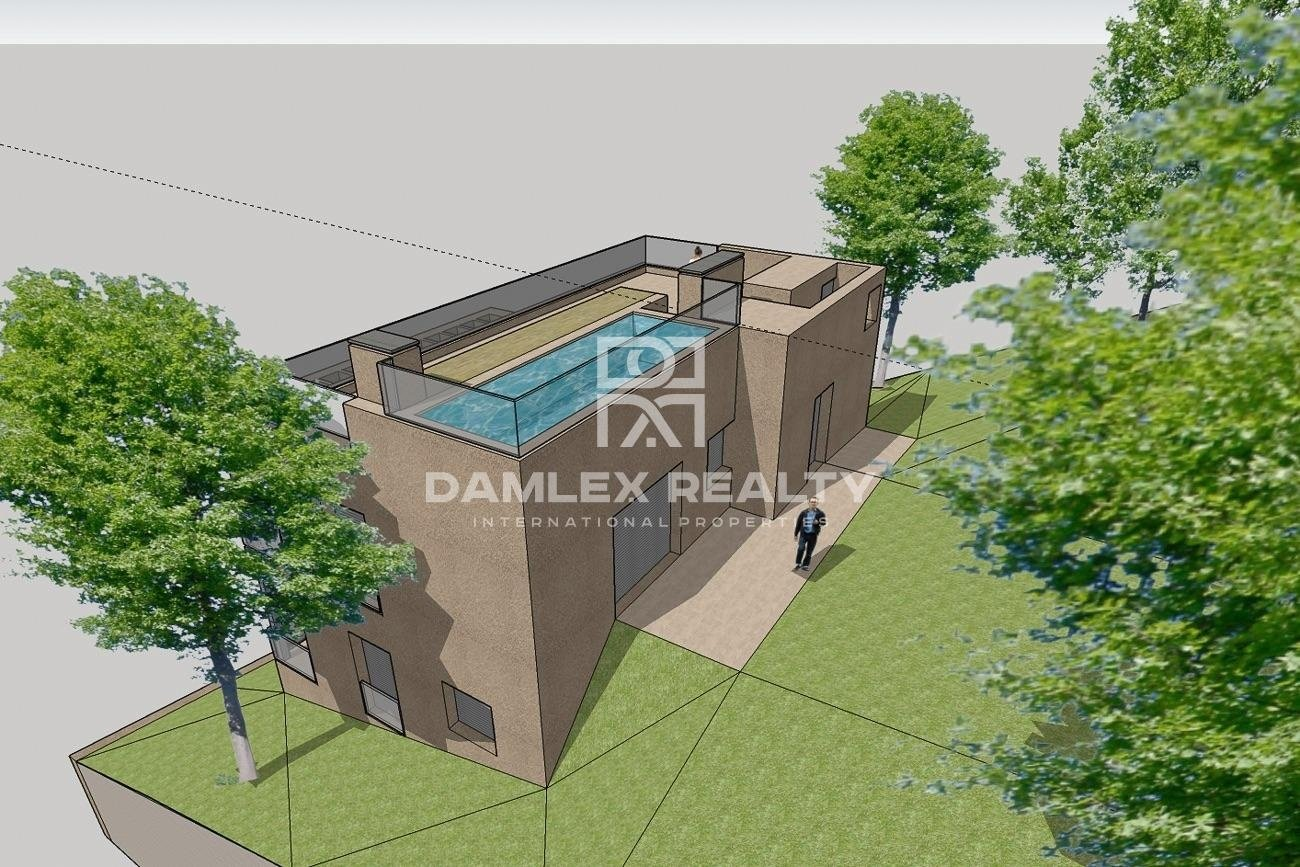 New construction, house with pool in Lloret de Mar, in the urbanization Los Pinares